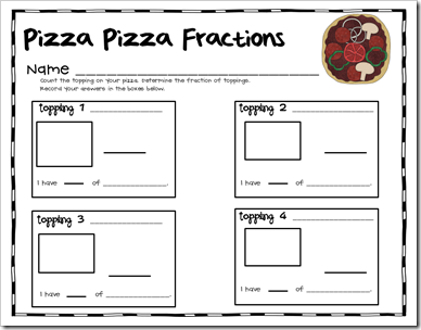 Here's a set of materials for creating pizza fractions. Recording ...