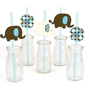 Blue Baby Elephant   Baby Shower Theme | BigDotOfHappiness.com
