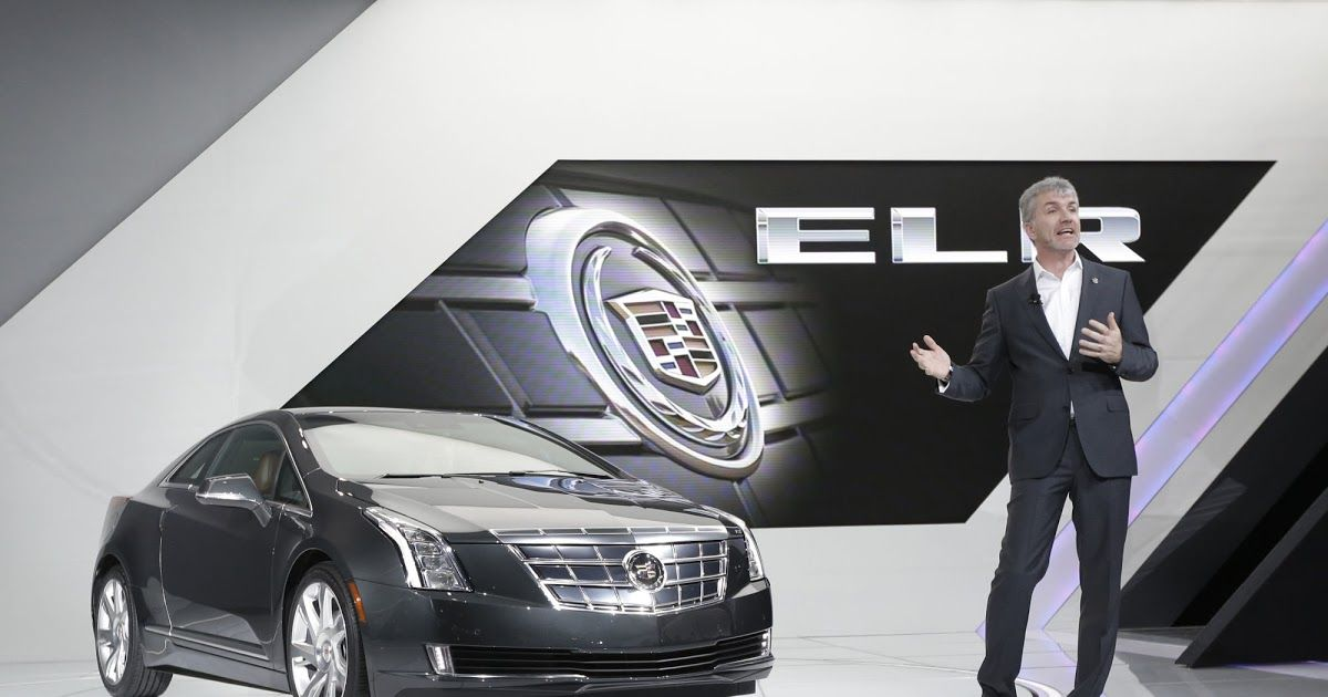 The First On Its New All Electric Platform Will Be A Cadillac Richard Lawler Mark Adams Executive Director Of Global Design Stands Next To