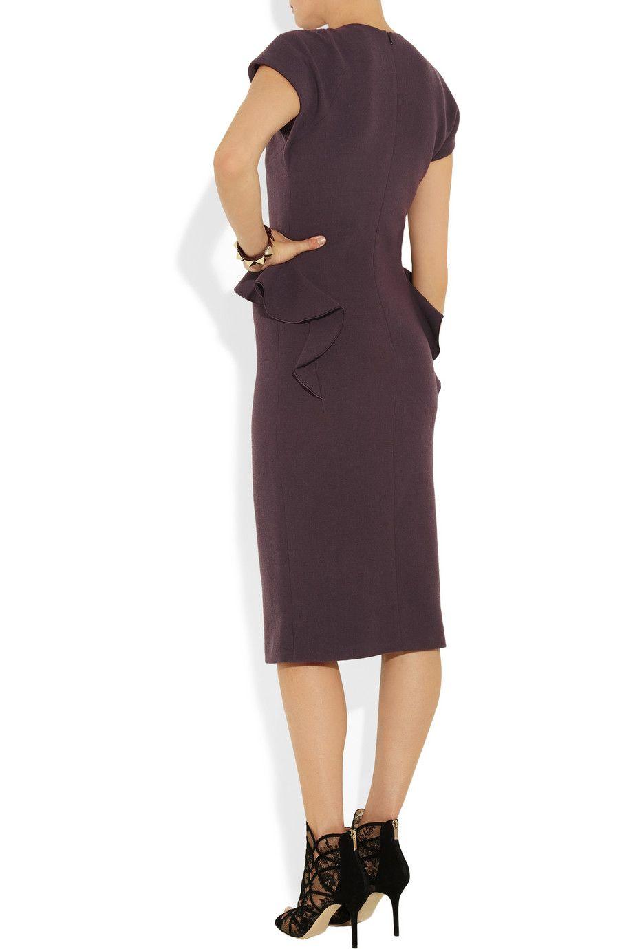 Bottega Veneta Ruffle-trimmed wool-crepe dress NET-A-PORTER.COM
