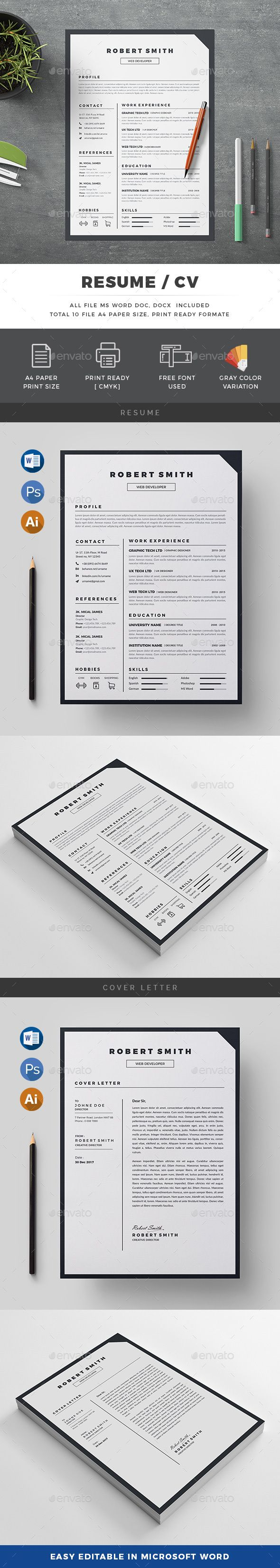 Resume | Ai illustrator, Template and Resume cv
