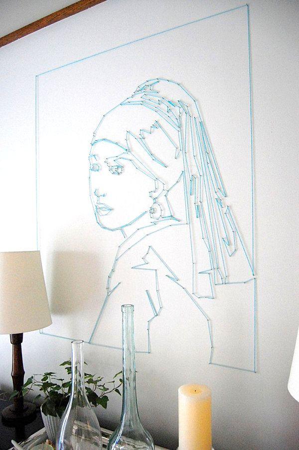 Portrait String Wall Art DIY