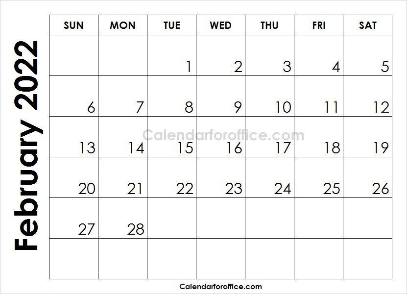 Month Of February Calendar 2022 To Print September Calendar February Calendar Calendar Template