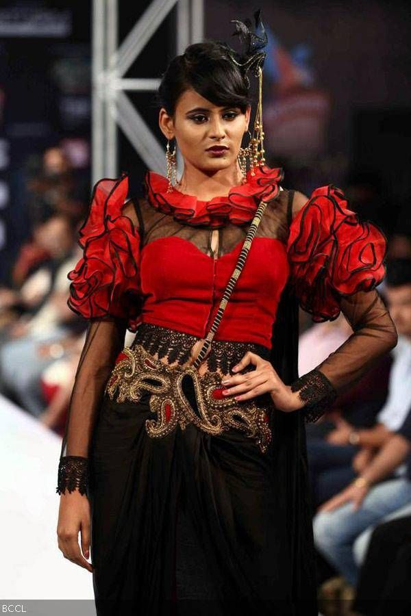 A model walks the ramp for designer Jaya Misra during Bengal Fashion Week. #Style #Fashion #Beauty