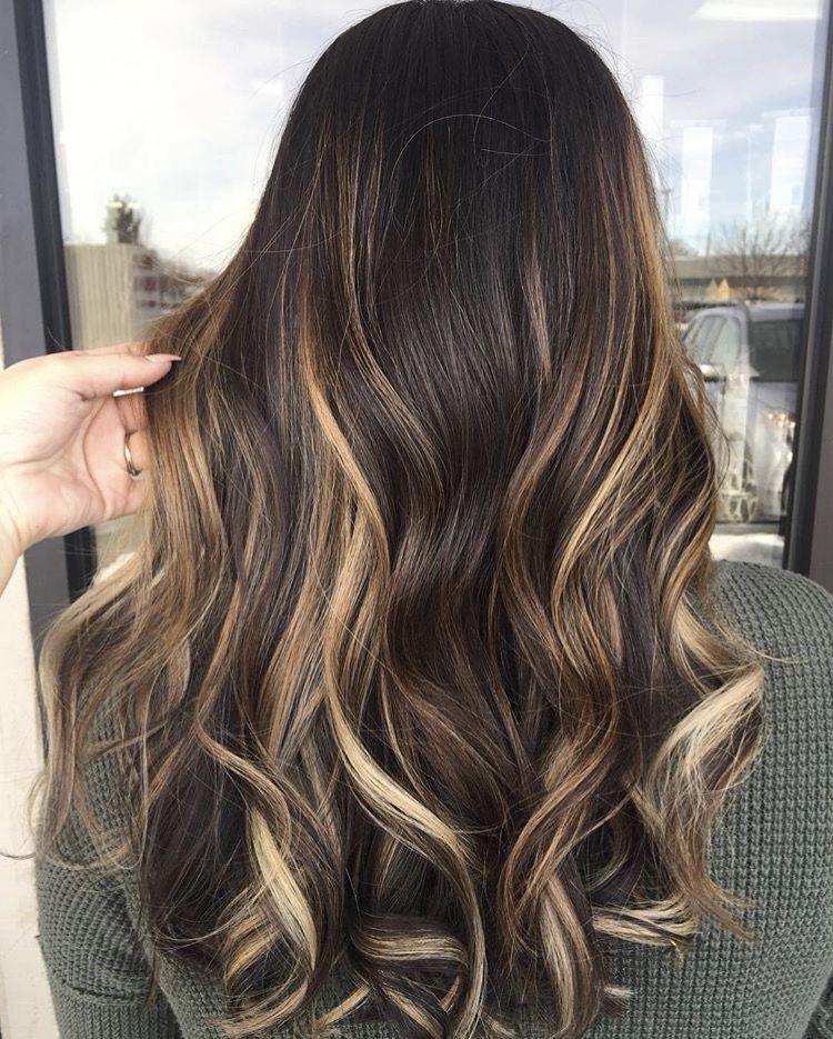 brunette balayage haare pinterest haarfarbe haar und frisur. Black Bedroom Furniture Sets. Home Design Ideas