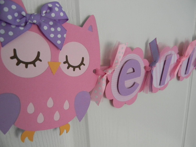 Owl Birthday Banner   Decoração festa infantil, Festa ...
