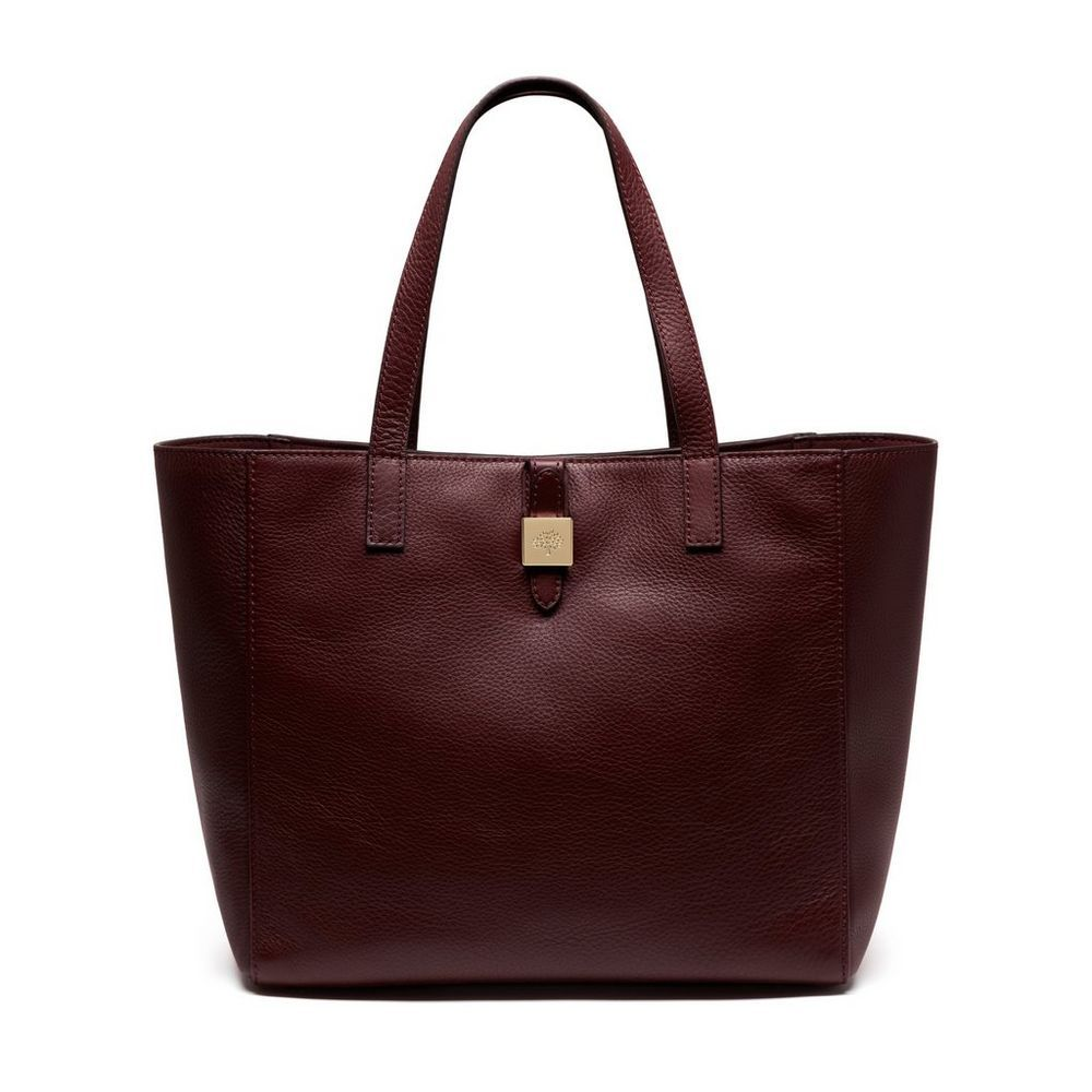 991f9b2d30 Mulberry Classics for Her - Tessie Tote in Oxblood Soft Small Grain ...