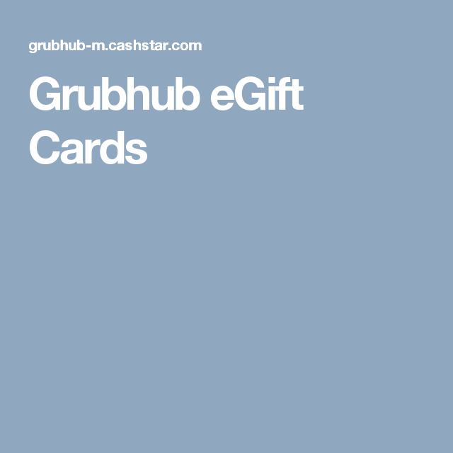 Grubhub eGift Cards | xmas2017 | Pinterest
