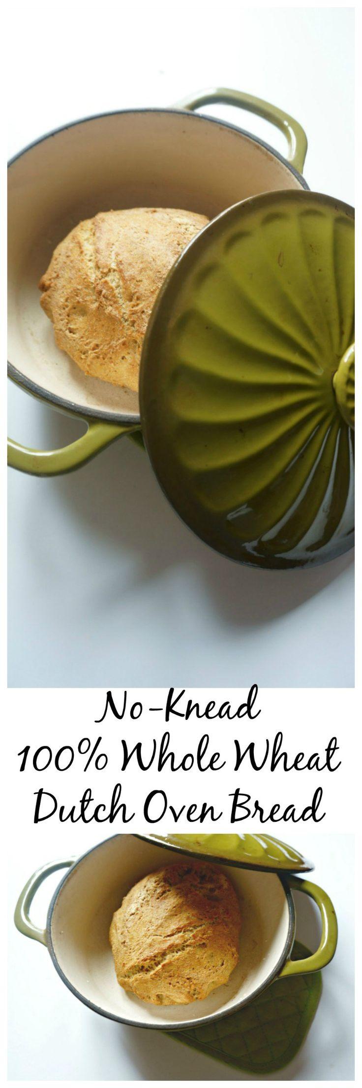 "NoKnead Whole Wheat Dutch Oven Bread A Mind ""Full"" Mom"