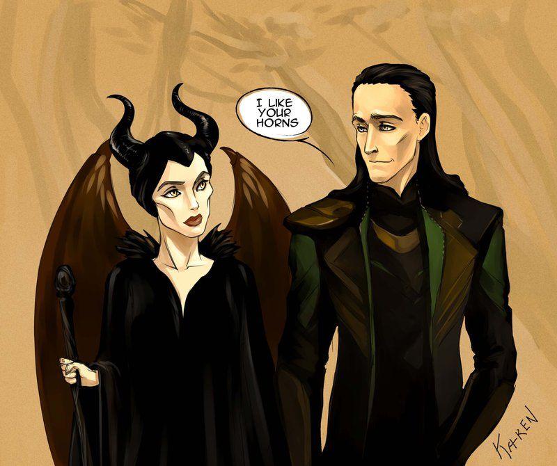 Maleficent And Loki By Ka Ren Deviantart Com On Deviantart