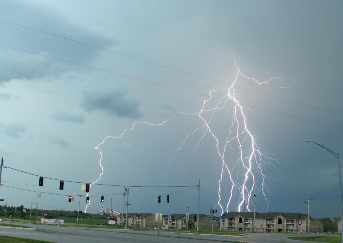 Amazing daytime lightning shot. Taken by Craig Hough East of Joplin on the 7th May 2011. http://bit.ly/GJ1vqD