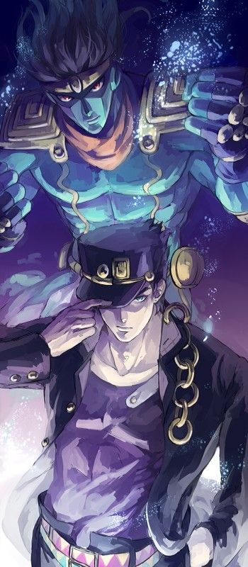 jotaro kujo stardust crusaders anime in 2018 pinterest jojo