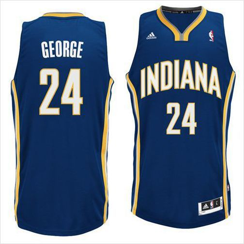 the best attitude 41830 c58df Mens Indiana Pacers Paul George 24 Blue Authentic NBA ...