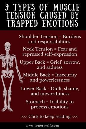 9 Types of Muscle Tension Caused by Trapped Emotions ⋆ LonerWolf