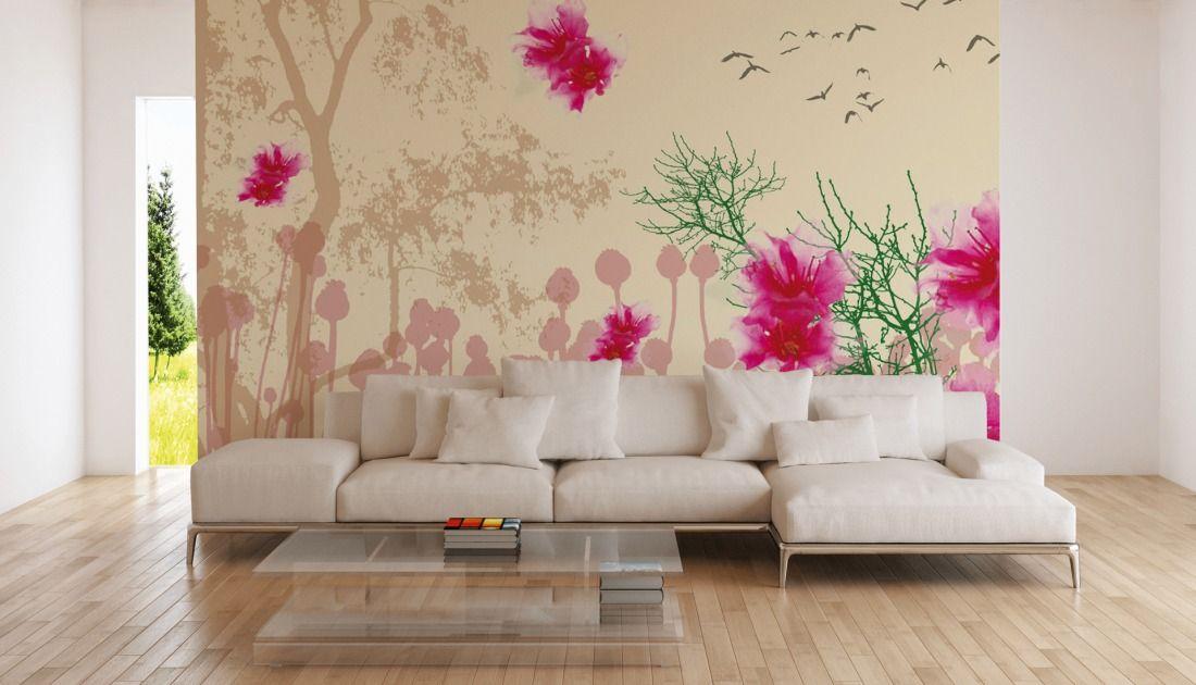 Blumentapete bei awallo; Fototapete «Lila Blüten» DD105340 #awallo