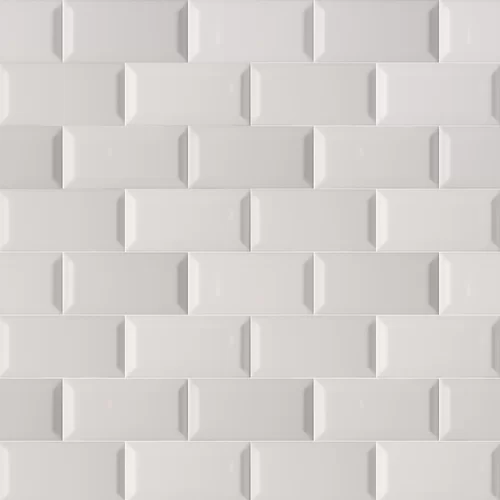 3 Quot X 6 Quot Beveled Ceramic Subway Tile In Glossy Gray