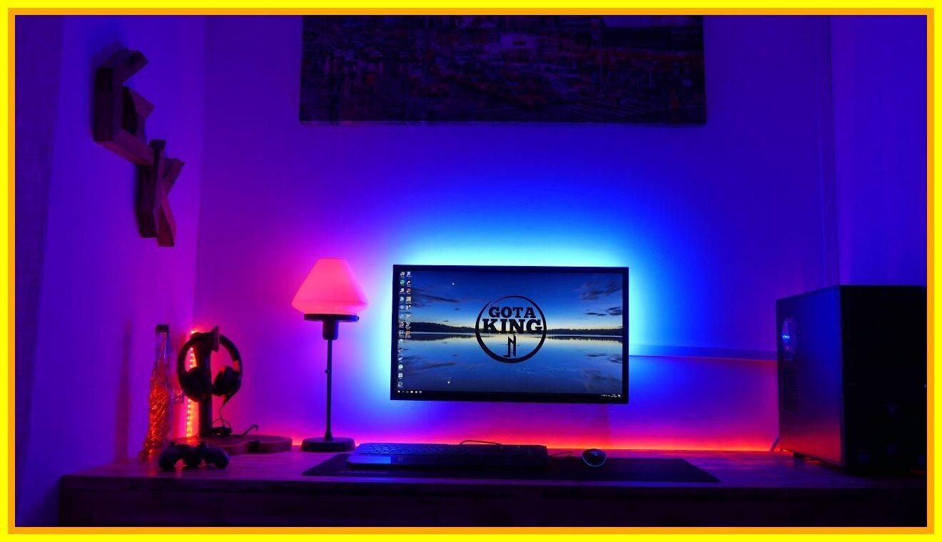 77 Reference Of Desk Setup Led Light Strip In 2020 Led Strip Lighting Strip Lighting Led Light Strips