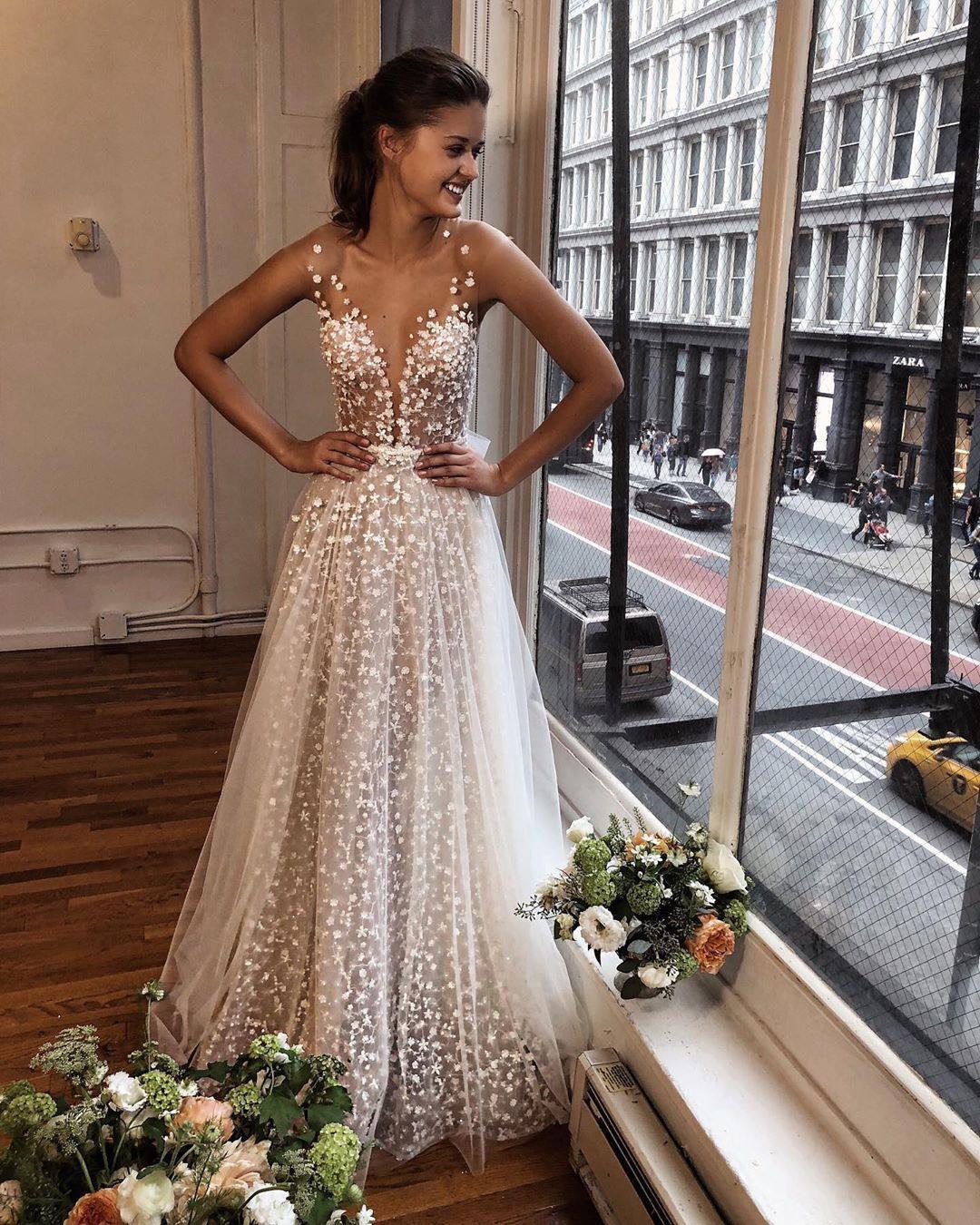 Berta On Instagram A Musebyberta Icon Demi Cap Sleeve Wedding Dress Lace Wedding Dresses Tulle Wedding Dress [ 1350 x 1080 Pixel ]