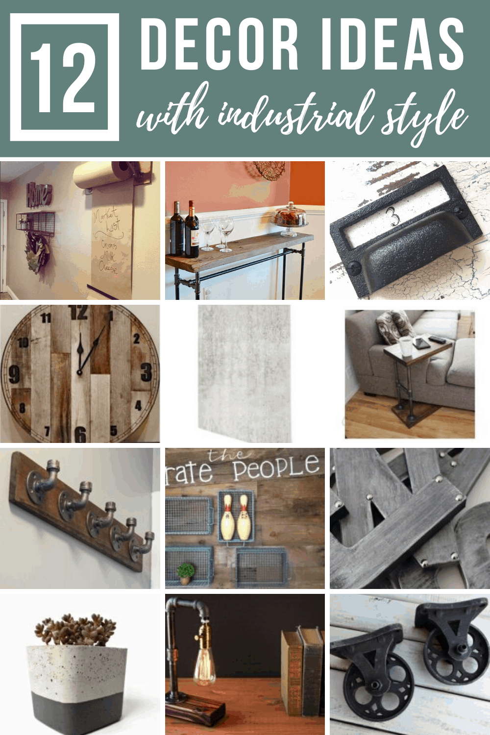 12 Decor Ideas with Industrial Style