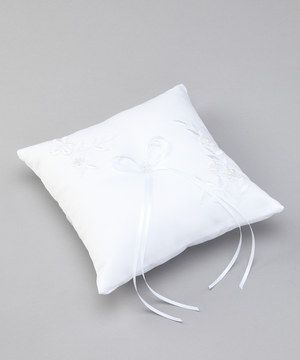 ONLY $12!!! Make that special day even more enchanting with this precious ring bearer's pillow. Made from plush satin fabric, it boasts a loving design plus decorative yet subtle embellishments and ribbon for displaying the ring.