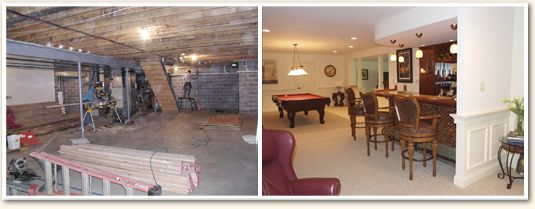 Etonnant Finished Basements Before And After | Mayfield Builders   Before And After