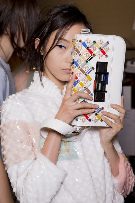 Backstage  Backstage at Fendi Spring 2015. Photo by Kevin Tachman.