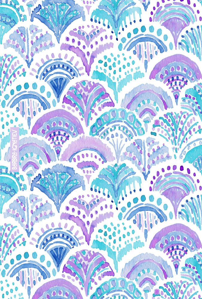Mystical Mermaid Daydreams Watercolor Scales Mermaid Wallpapers