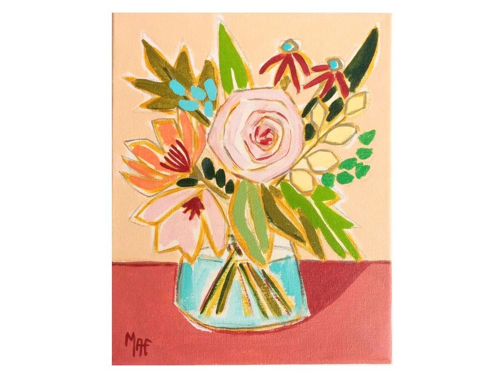 Painting of Flowers from an Artist, Spanish Flowers, MAF Paintings ...