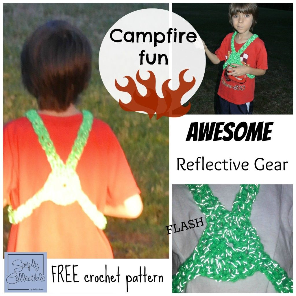 Awesome Reflective Gear | Red Heart Reflective Yarn Review |Thumbs way up from SimplyCollectible... A FREE Pattern, too! #makeitwearitflashit
