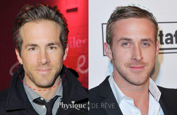 Visage oblong ryan gosling reynolds morpho visage homme pinterest cheveux pour les hommes - Visage oblong homme ...