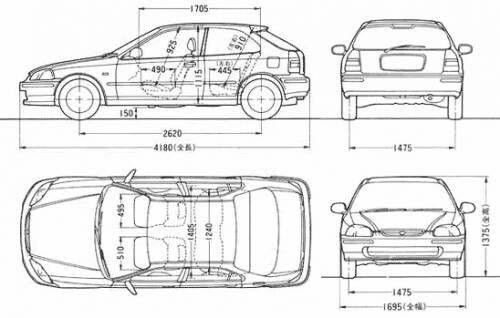 Honda Civic Hatchback Sizes Honda Civic Civic Eg Honda Civic Hatchback