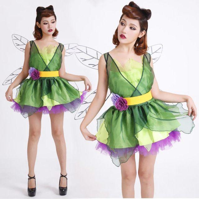 new adulte femmes sexy halloween party vert elf costumes tenue de fantaisie fleur f e cosplay. Black Bedroom Furniture Sets. Home Design Ideas