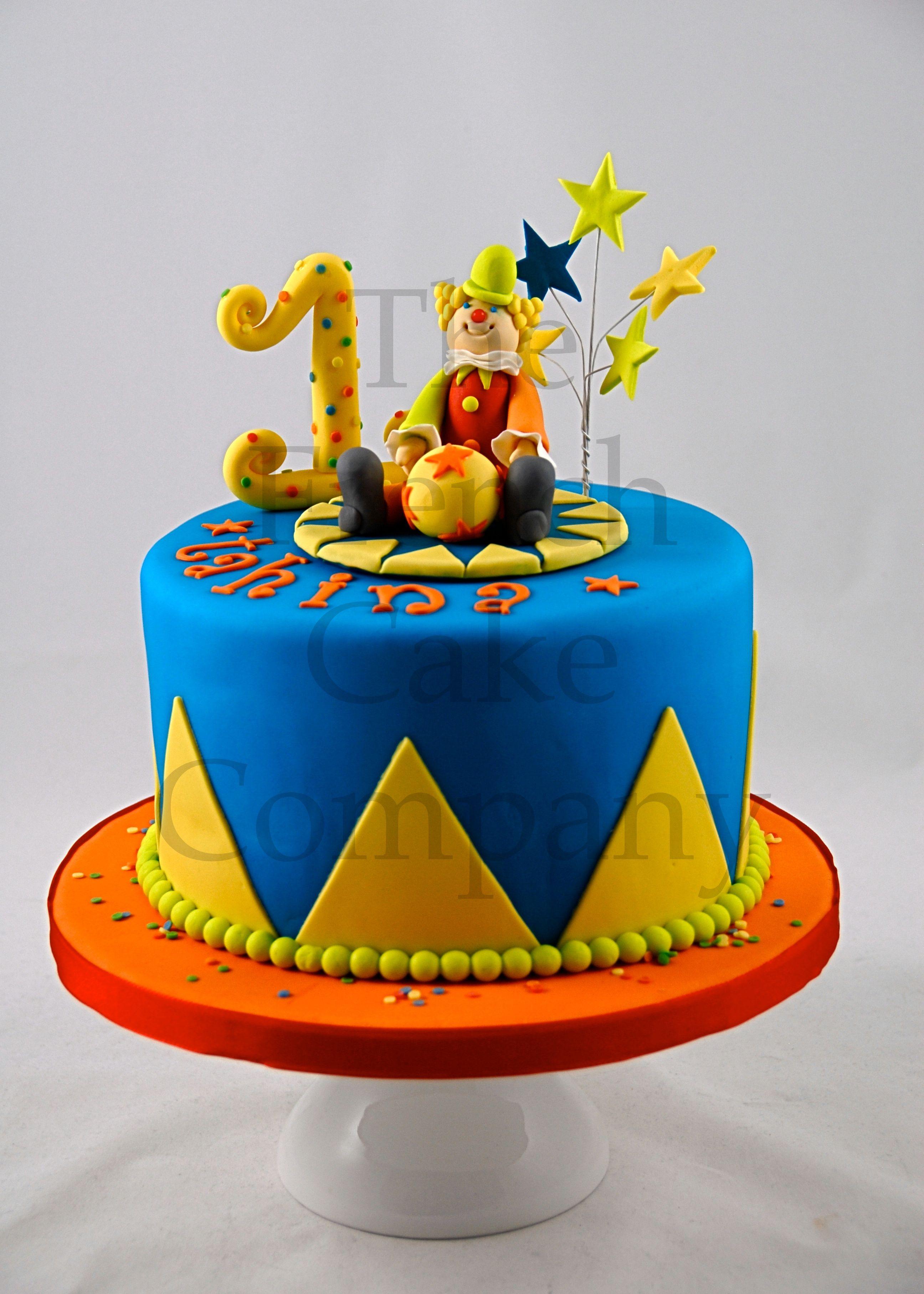 cake for toddlers clown gateau d 39 anniversaire pour. Black Bedroom Furniture Sets. Home Design Ideas
