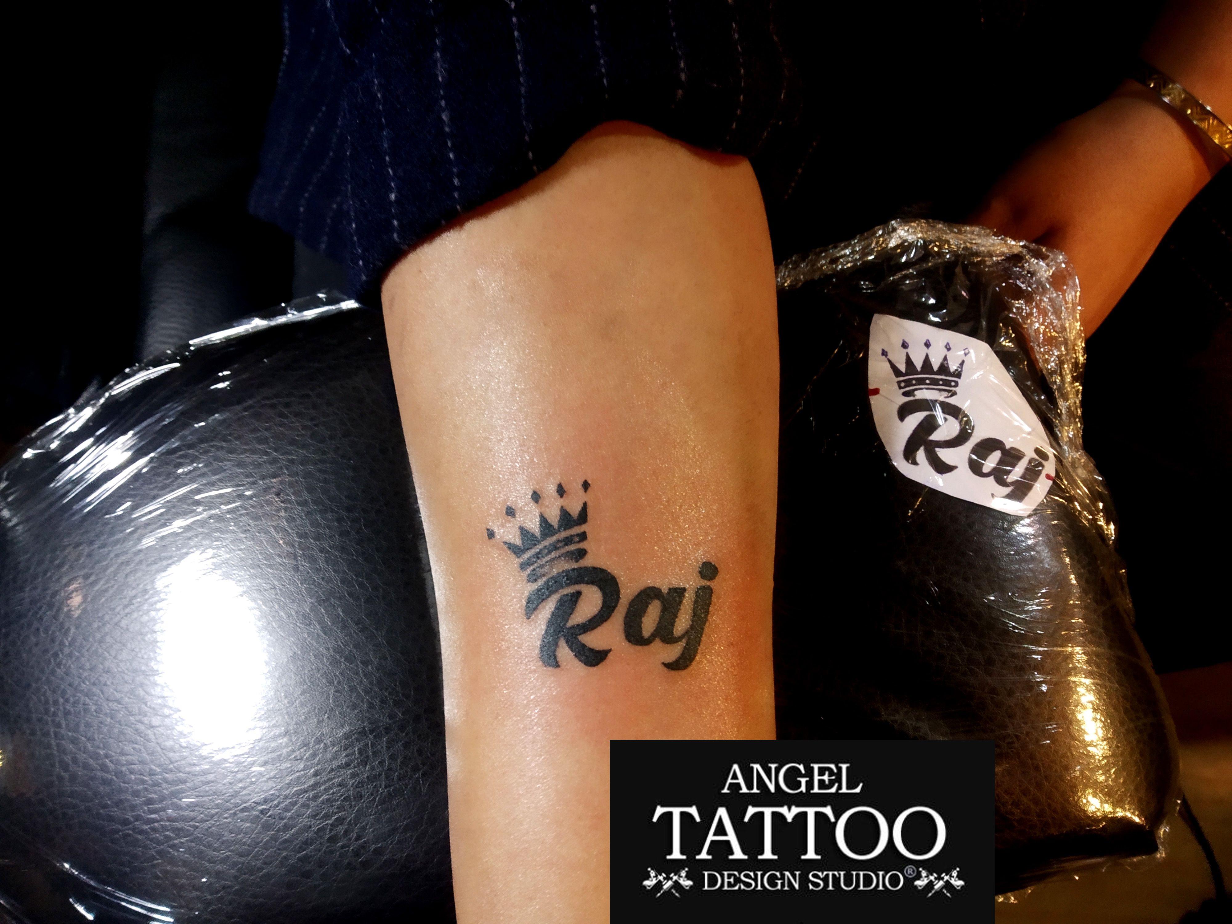 Raj Name Tattoo Name Tattoo Designs Name With Crown Tattoo Name Tattoo