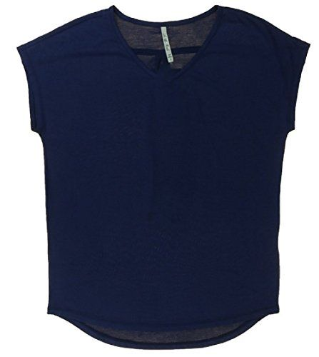 Leo  Nicole Womens VNeck Short Sleeve Blouse XXLarge Admiral Navy ** Learn more by visiting the image link.