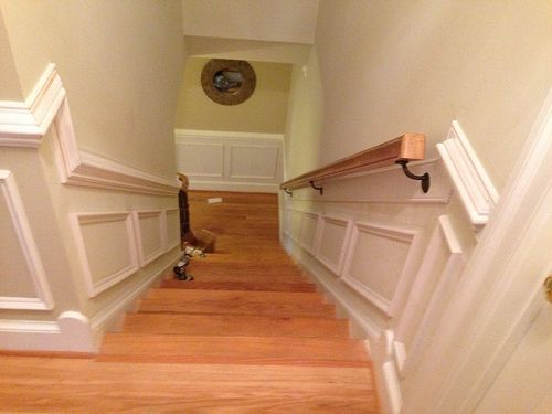 Pin By R F On Winter Street Project Wainscoting Staircase Trim Carpentry