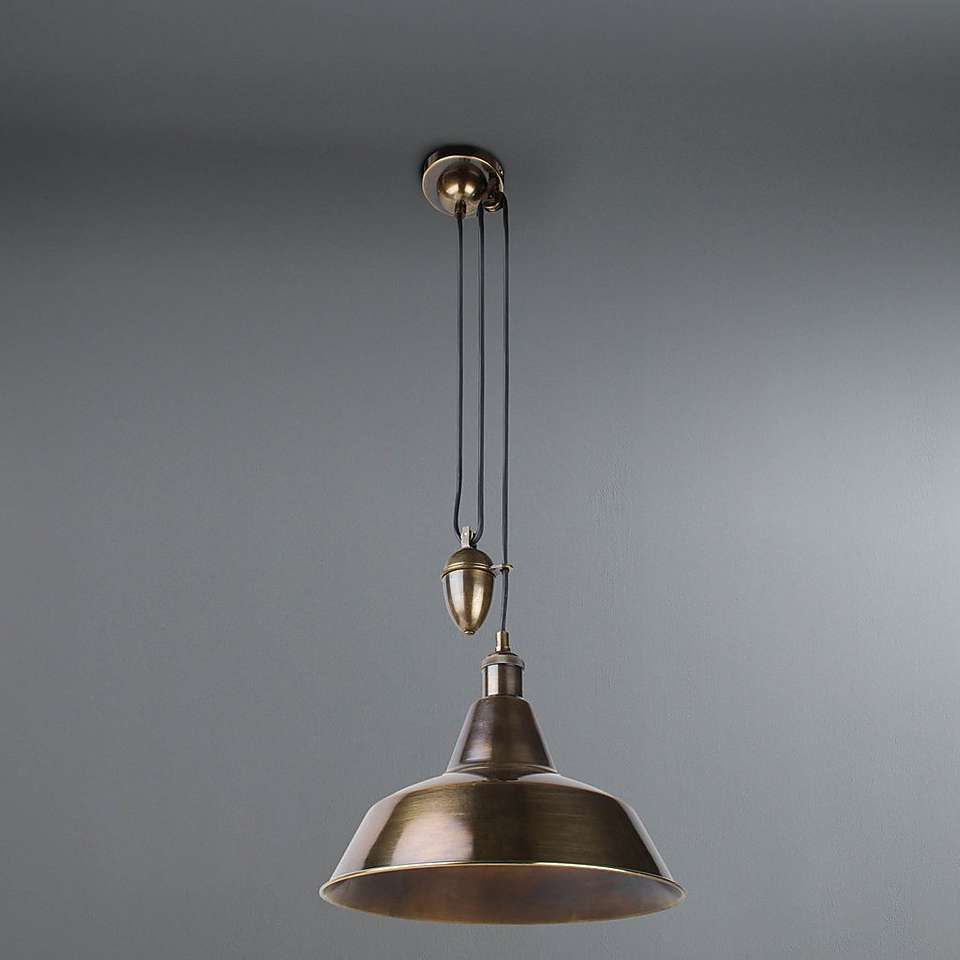 Dorma Farrington Bronze Rise And Fall Ceiling Fitting Dunelm Bronze Lighting Pendant Light Ceiling Lights