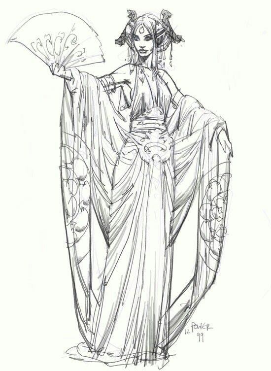 Concept art of Padme Amidala in diaphanous Lake Gown from \