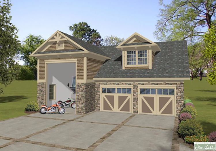 If You 39 Re Looking For A Tiny Home That Incorporates A Garage While Taking Up The Smalles Garage Apartments Craftsman Style House Plans Carriage House Plans