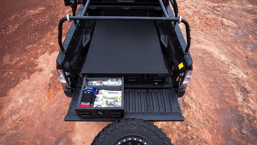 DefconBrix TruckVault + CargoGlide Bed Storage