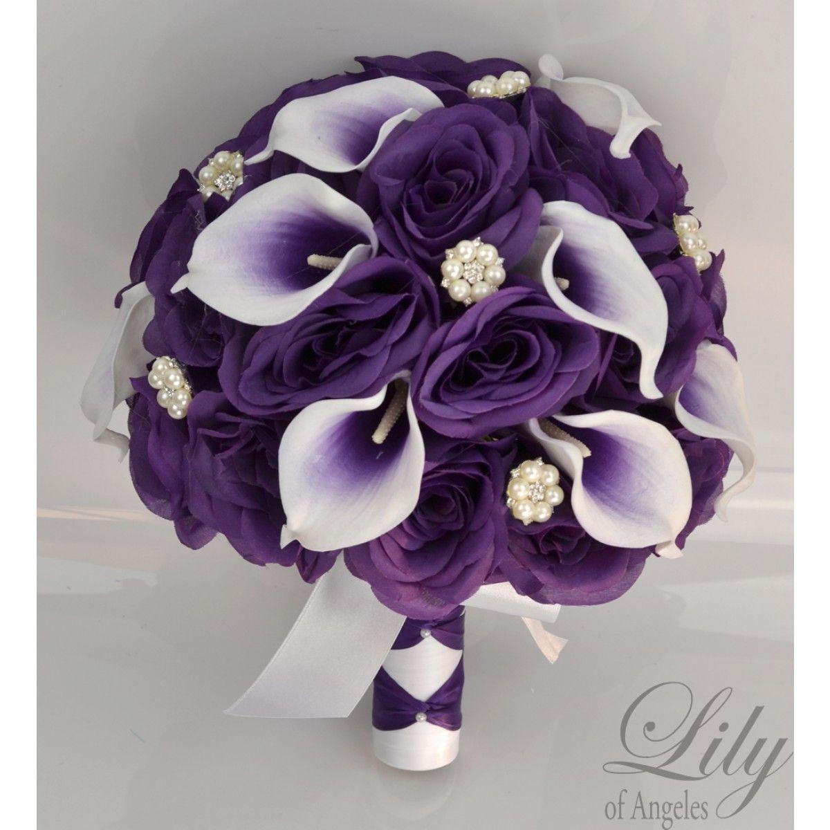 PURPLE WHITE PICASSO CALLA LILY JEWELS Calla lily