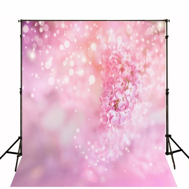 Bokeh Flowers Wedding: 2017 Pink Floral Photographic Backgrounds Thin Cloth Vinyl