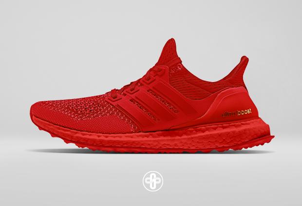 La Adidas Ultra Boost imaginée dans le coloris de la Nike Air Yeezy 2 Red  October de Kanye West a85b367ef4a55