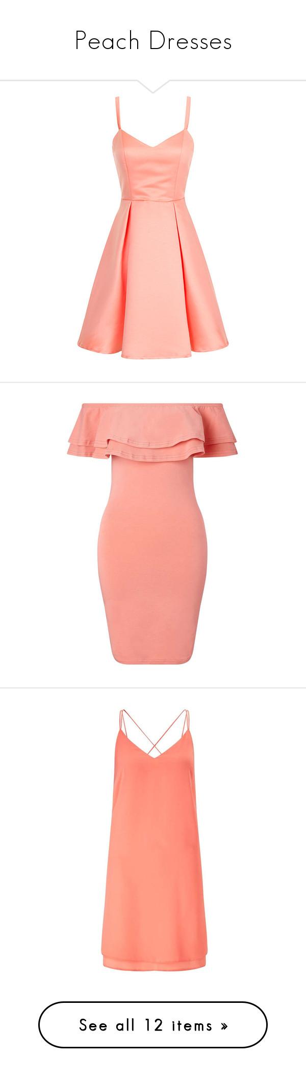 Peach Dresses\