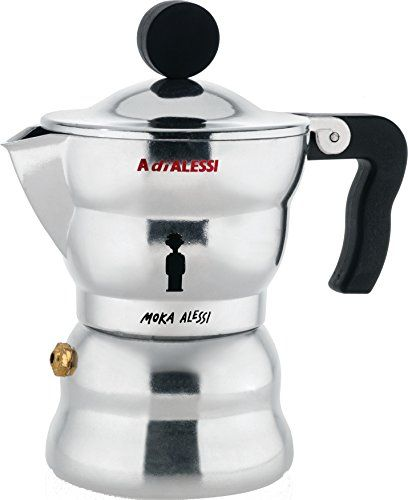 Alessi AAM331 Moka Stove Top Espresso Coffee Maker in Aluminium