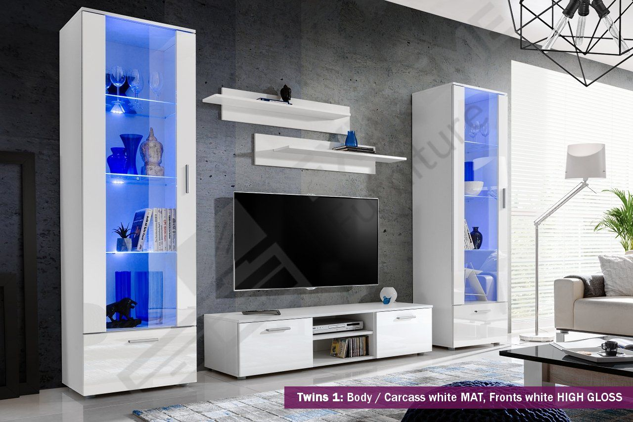 New Smart Living Room Furniture Set High Gloss Fronts Display Wall Unit Tv Floor U Modern Living Room Set Living Room Sets Furniture Living Room Cabinets