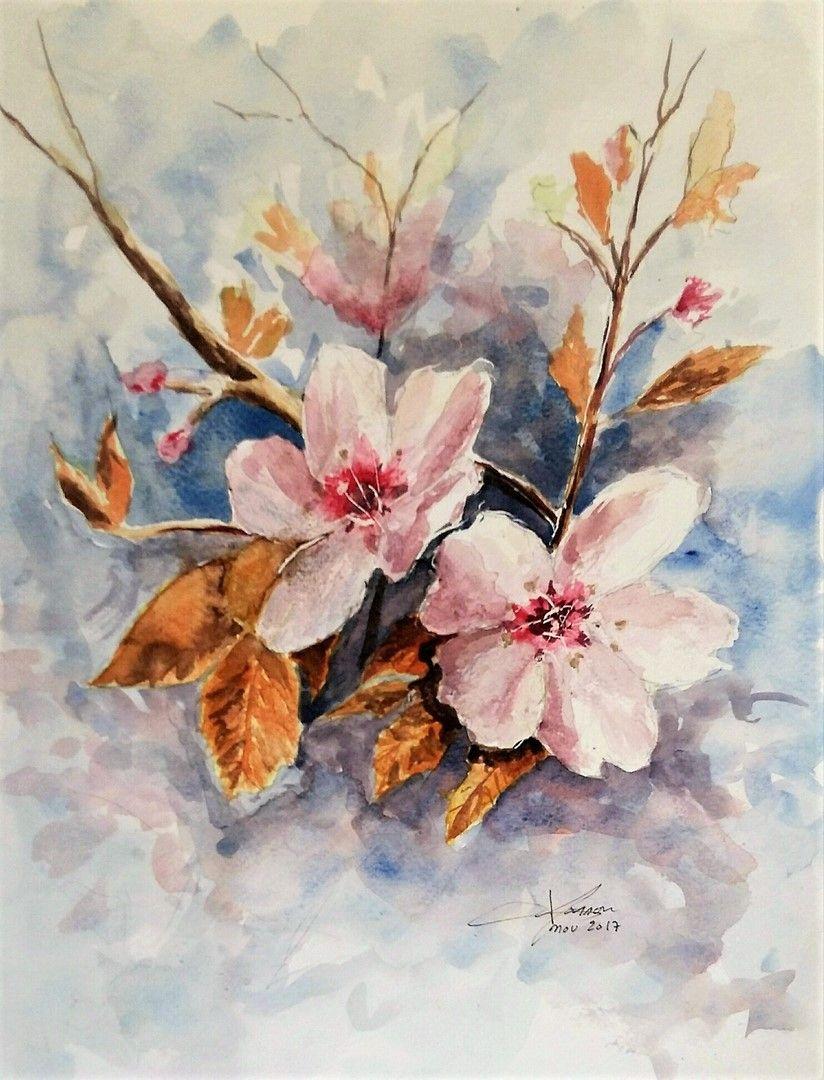 Fleurs D Automne Aquarelle Fleurs Automne Aquarelle Et Fleurs