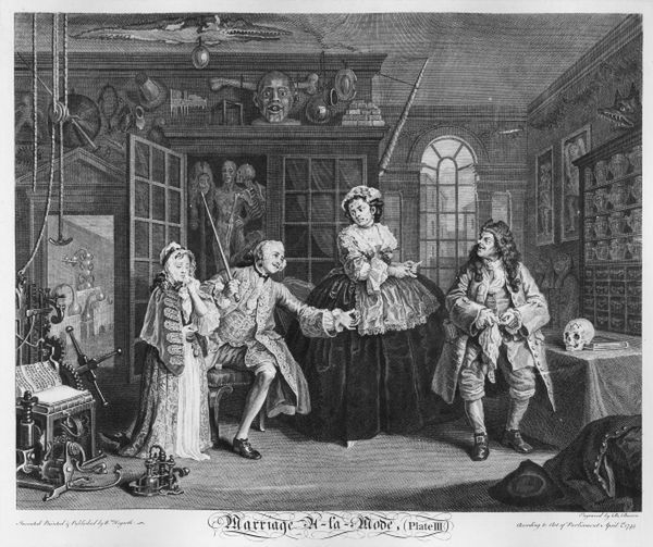 Poster Print Marriage A La Mode Plate Iii The Inspection 1745