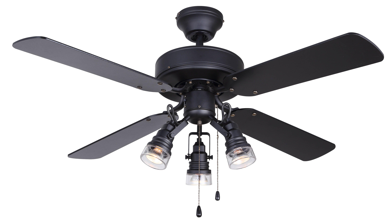 """BROCK 42"""" Ceiling Fan in black CF42BRO4BK"""