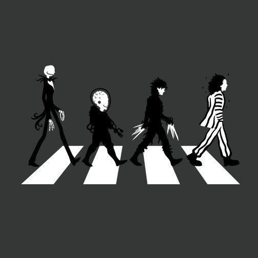 Burton Road T Shirt Tim Burton Art